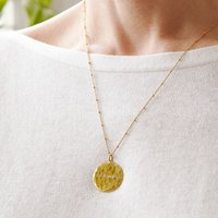 Engraved Message Organic Disc Necklace