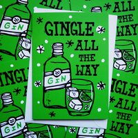 Gin Funny Pack Of Christmas Cards Five Or 10