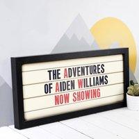 Personalised Child's Adventures Cinema Sign Print