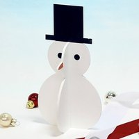 Wooden Snowman Christmas Display