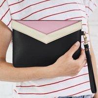 Secret Message Leather Clutch Bag