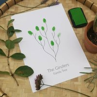 Personalised Fingerprint Family Tree Print