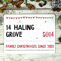 Personalised Christmas Street Sign Placemat