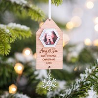 Personalised Best Friend Hanging Photo Decoration