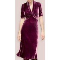 Silk Velvet 1940s Style Midi Dress