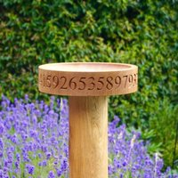 Personalised Solid Oak Bird Feeder Table