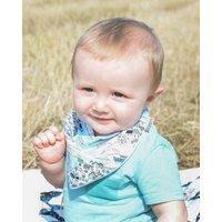 Baby Blue Dribble Bib Seaside