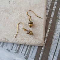 Bronze Acorn Earrings