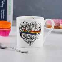 Love Is Love Fine Bone China Mug, Gay Pride, Lgbt