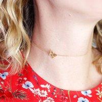 Butterfly Choker Necklace Gold Vermeil/Silver, Silver