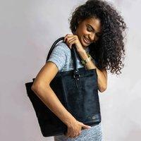Black Pony Hair Florence Tote Handbag