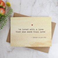 Literature Valentines Card Edgar Allan Poe Quote