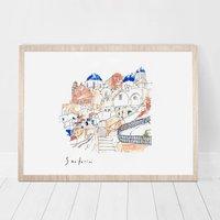 Dreaming Of Santorini Print