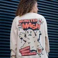 Monster Mash Women's Halloween Slogan Sweatshirt