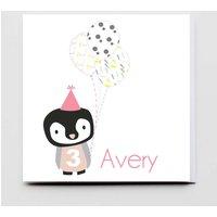 Super Cute Happy Birthday Girl Penguin Card