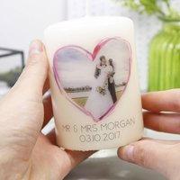 Personalised Wedding Photo Anniversary Candle