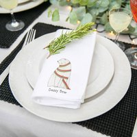 Personalised Illustrated Napkins For Christmas