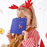 Christmas Deer Enamel Pin Greetings Card