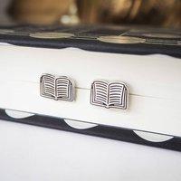 Book Stud Earrings