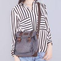 Medium Size Canvas Cross Body Bag