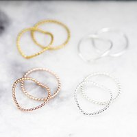 Simple Band Midi Ring In Silver, Gold, Rose, Silver