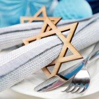 Hanukkah Star Of David Wooden Napkin Rings