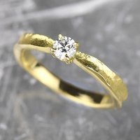 Tinkerbell 18ct Gold Diamond Engagement Ring, Gold
