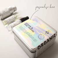 Personalised Clean And Zen Travel Kit
