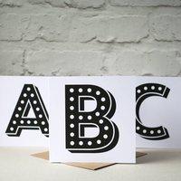 Circus Alphabet Initial Card
