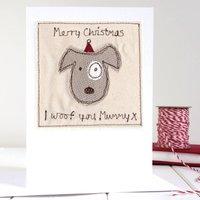 Personalised Dog Christmas Card
