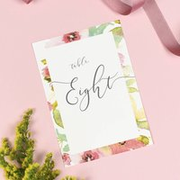 Juliette Watercolour Floral Wedding Table Number Pack