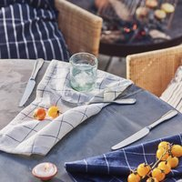 Checked Linen Napkins, Set Of Two