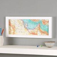 Uae, Dubai, Quatar Middle East Hand Drawn Map Print