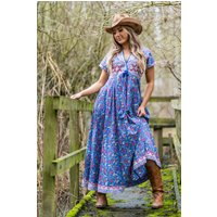 Joni Smock Dress Periwinkle Blue