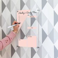 Personalised Acrylic Daily Planner Wall Mounted