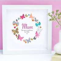 Personalised Mother's Day Butteflies