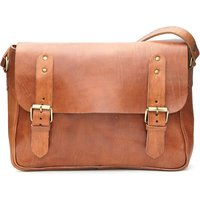 Paul Messenger Bag, Tan/Chocolate/Black