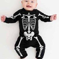 Halloween Skeleton Babygrow, Black/White