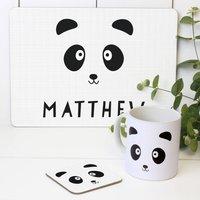 Personalised Childrens 'Panda' Tableware