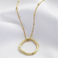 Carly Rowena Gold Organic Shape Hoop Necklace, Gold