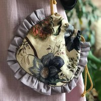 Frilled Make Up Bag Boho Pouch Bag Evening Bag