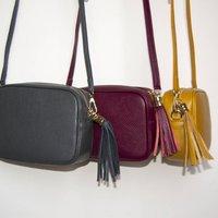Cross Body Leather Personalised Handbag Winter Colours