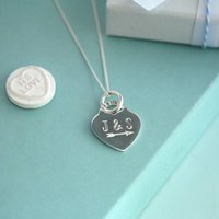 Sterling Silver Heart Necklace, Silver