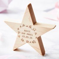 Personalised Meadow Baby Keepsake Star