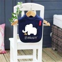 Baby Elephant Bib, Red/Blue/Baby Blue