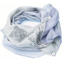 Pure Silk Letter Snood Scarf