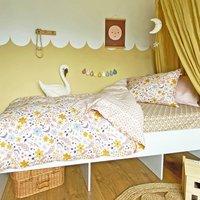 Organic Cotton Duvet Set Moon Flowers Incl Fitted Sheet