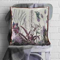 Wildflower Blush Swan Cushion