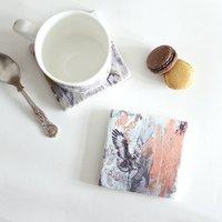 Jackal Buzzard Stone Tile Coaster
