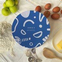 Personalised Folk Pattern Circle Cake Tin